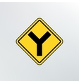 Y Intersection icon vector image vector image
