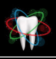 tooth is protected on dark background vector image