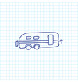 of trip symbol on caravan vector image