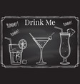 set of cocktail icon drink me elements on the vector image