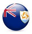 A badge in colours of anguilla flag vector image vector image