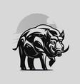a large adult boar or hog vector image