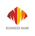 abstract shape colored business logo vector image vector image