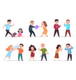 angry kids bad boys and girls confronting and vector image vector image