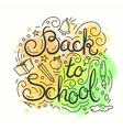 Back to school card Watercolor background vector image vector image