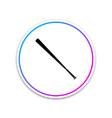 baseball bat icon isolated on white background vector image