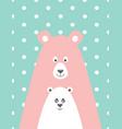 bear and little bear vector image