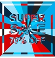 Big ice sale poster with SUPER SALE 70 PERCENT OFF vector image vector image
