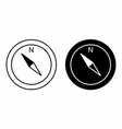 black and white compasses vector image
