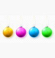 blue green yellow and red christmas ball xmas vector image vector image