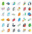 business analytics icons set isometric style vector image vector image