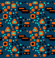 busy city streets seamless pattern vector image