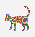 Cat colorfully vector image