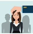 choose find woman work vector image