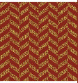 Christmas Seamless chevron pattern Red and gold vector image vector image