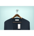 Clothes Hanger with Cardigan Blank Tag Label vector image vector image