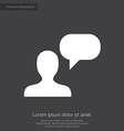 conversation premium icon white on dark background vector image vector image