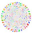 credit card swirl circle vector image