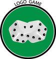 Cubes game logo vector image