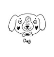 cute simple dog face cartoon style vector image