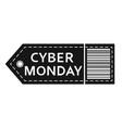 cyber monday sale inscription design template vector image vector image