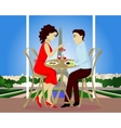 Date in Paris cafe vector image vector image