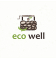 eco well vector image