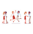 female friends meeting greeting vector image vector image