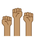 fist hand up icon vector image vector image