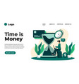 flat design time time is money vector image vector image