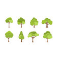 flat tree icon trees forest simple vector image vector image