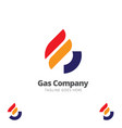 g letter based gas company symbol vector image