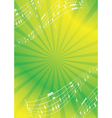 green and yellow abstract music background vector image vector image