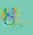 greeting card with number 8 vector image vector image