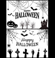 happy halloween banner on vector image vector image