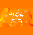happy thanksgiving modern calligraphy hand vector image vector image