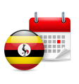 Icon of National Day in Uganda vector image vector image