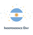independence day of argentina patriotic banner vector image