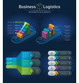 infographic template for logistics vector image vector image