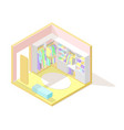 isometric low poly cutaway interior vector image vector image