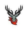 jackalope wearing bandanna mascot vector image