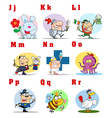 Joyful Cartoon Alphabet Collection 2 vector image