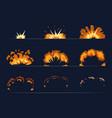 key frames bomb explosion cartoon vector image