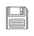 line retro diskette technology with data vector image
