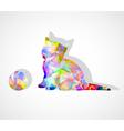 mosaic kitten vector image vector image