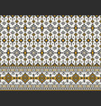 native american indian aztec geometric seamless vector image vector image