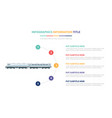 old train infographic template concept with five vector image