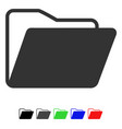 open folder flat icon vector image vector image