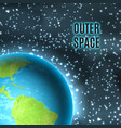 outer space earth vector image