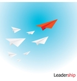 paper airplane in sky vector image